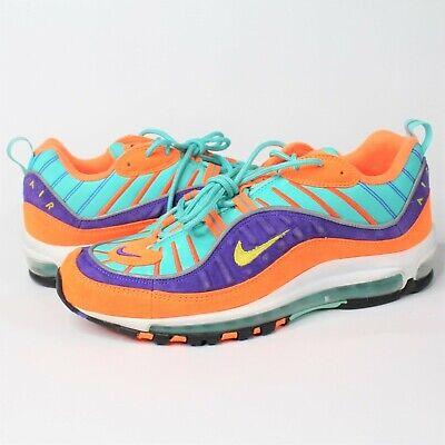 Nike Air Max 98 QS Cone Vibrant Air Tour Yellow Grape 924462 800 Size 9.5 Men's | eBay
