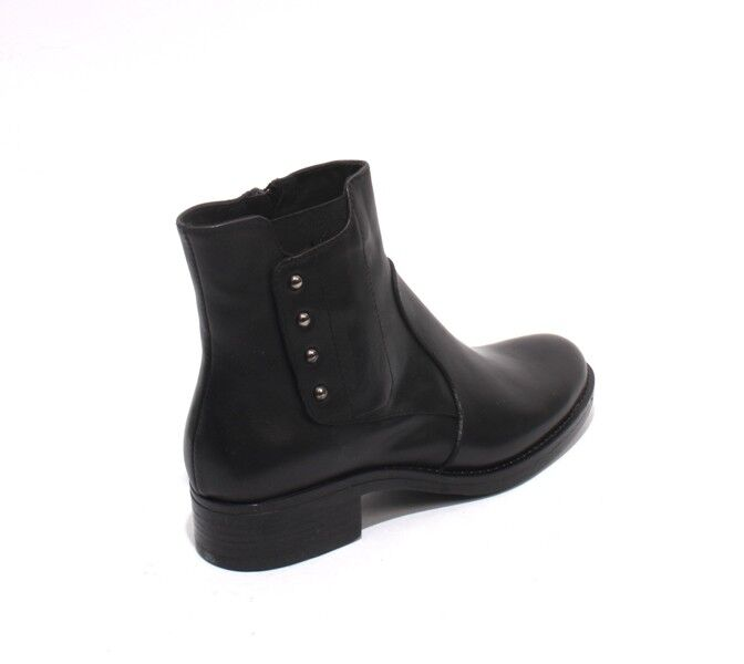 women Piu 10601 Black Leather   Elastic     Zip-Up Ankle Heel Boots 41   US 11 3665c2