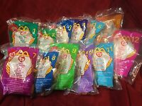 1999 Complete Set 12 Mcdonalds Teenie Beanie Babies Smoochy Iggy Antsy Nuts Nook
