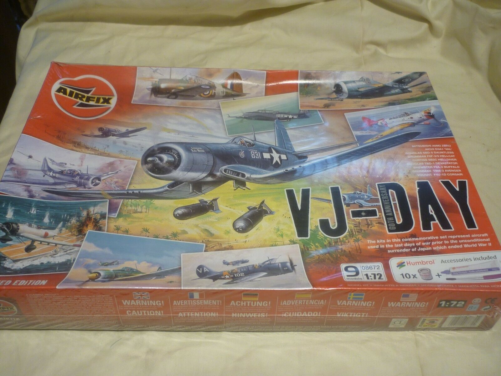 Airfix factory sealed   un made plastic kit of  VJ DAY box set of 5 models