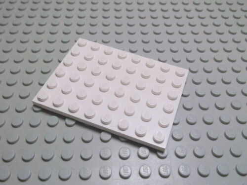 Lego 1 Platte flach weiß 6x8 3036 Set 1955 2506 10177 10195