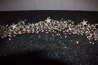 Platinum Holiday Pip Garland With Stars - 4-1/2 Feet Long - Item