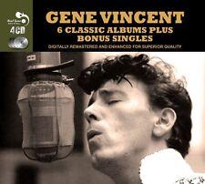 Gene Vincent SIX (6) CLASSIC ALBUMS +SINGLES Blue Jean Bop ROCKS New Sealed 4 CD