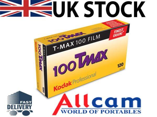 Lot De 5: Kodak T-max 100 120 Taille Roll B&w Film (5) Vente De Fin D'AnnéE
