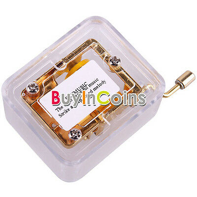 Mini Gold Plated Hand Crank Winding Wind Up Music Musical Box Gift