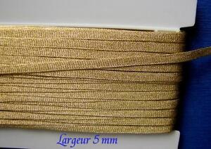 AU METRE LO5 larg 5 mm GALON PASSEMENTERIE LACET Fil d'Or Louis Mathieu