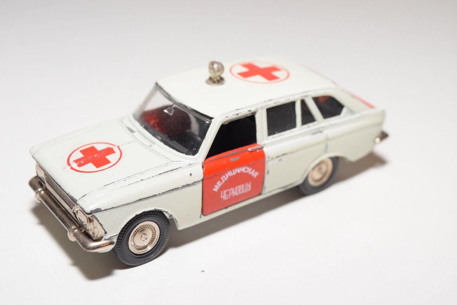 RUSSIAN CAR USSR CCCP MOSKVITCH 1500 KOMBI AMBULANCE EXCELLENT COND. RARE SELTEN