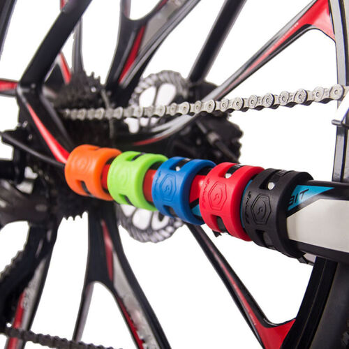 Bicycle Chain Protection Sticker Road Bike Rear Fork Anti-Collision Protector D
