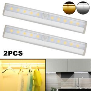 Luci-a-LED-per-cabinet-del-Sensore-di-movimento-Batteria-PIR-Luce-dell-039-armadio