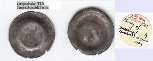 Arnstein-moeglicherweise-Hohlpfennig-ex-Slg-Horn-s-Beschreibungszettel