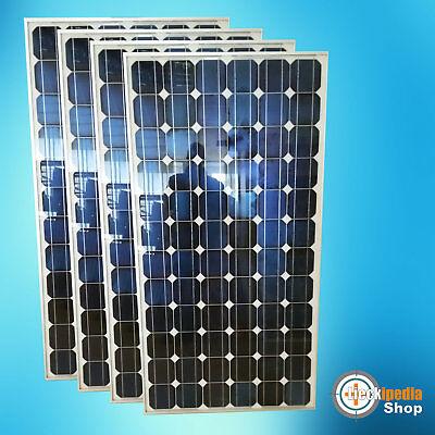 4 Stück 180 Watt Solarmodul Photovoltaik Solarpanel Monokristallin