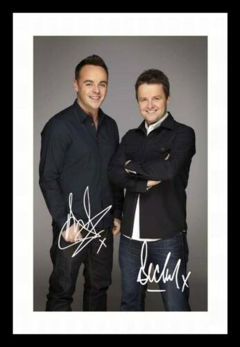 ANT AND DEC AUTOGRAPHED SIGNED /& FRAMED PP POSTER PHOTO