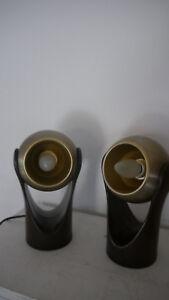 2 Stück Insta Sensorette Tischlampen / Nachttisch mit Touch-Funktion - 70er