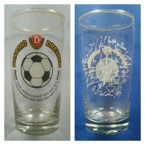 G631 GLAS Becher SG DYNAMO DRESDEN DFV DFB Fussball Sport DDR Oberliga H13,5cm Fußball Fußball-Trikots