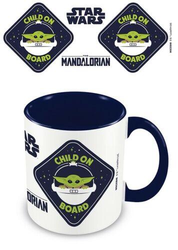 Mug Child on Board intérieur bleu Star Wars : The Mandalorian - Pyramid