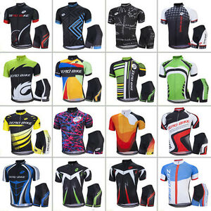 Mens-Sports-Wear-Team-Cycling-Jersey-Sets-Bike-Bicycle-Top-Short-Sleeve-Clothing