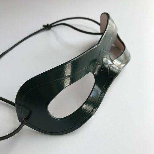 Leather Green Arrow Oliver Queen Mask Cosplay Leather Turtle Mask Halloween Prop