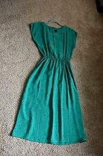 Retro Vintage Dress - Size 10 - Green Black - Similar to Modcloth 1940s Style