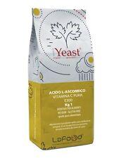 Acido Ascorbico Puro - Vitamina C - 1Kg - E300 - Alimentare -NO OGM- GLUTEN FREE