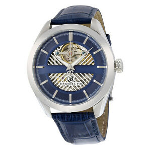 Brooklyn-Pierrepont-Skeleton-Mens-Automatic-Blue-Dial-Watch