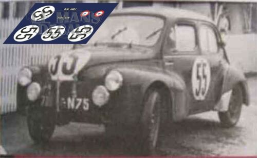 Calcas Renault 4-4 4CV Le Mans 1951 1:32 1:43 1:24 1:18 64 87 slot decals