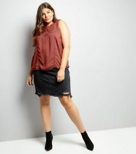 5d7959980ad Image is loading Ex-New-Look-Curves-Plus-Size-Embroidered-Vest-