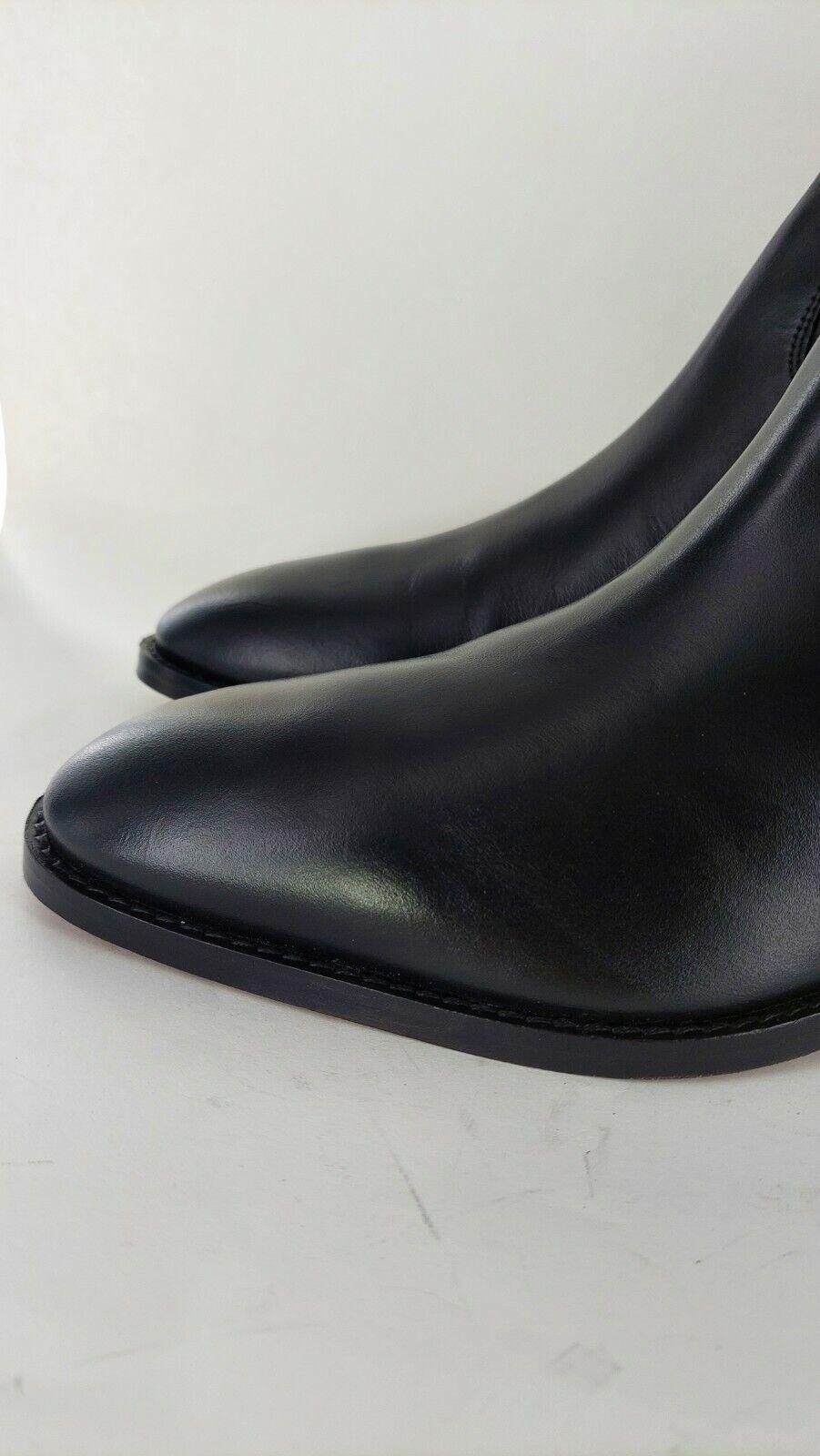 Club Cubano™ VALENTINO Mens Leather Casual Dress Cuban Heel Boots Uk 8#816