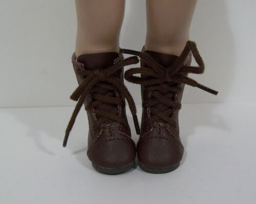 64mm RED Lace-Up Boots Doll Shoes