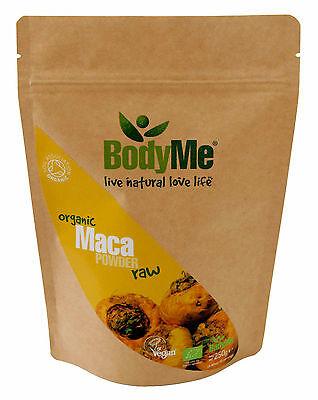 BodyMe Raw Organic Maca Root Powder 250 g (Soil Association Certified)