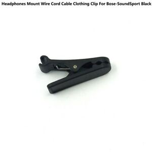 For-Bose-SoundSport-Headphones-Mount-Wire-Cord-Cable-Clothing-Clip-Black-GW