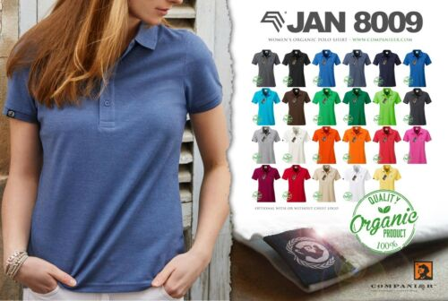 Jan 8009 Bio Coton Basic Polo Shirt Femme Organic companieer Rouge Cotton