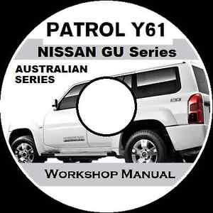 nissan patrol gu y61 australian petrol diesel ute wagon workshop rh ebay com au nissan patrol y61 manual pdf nissan patrol y61 manual download