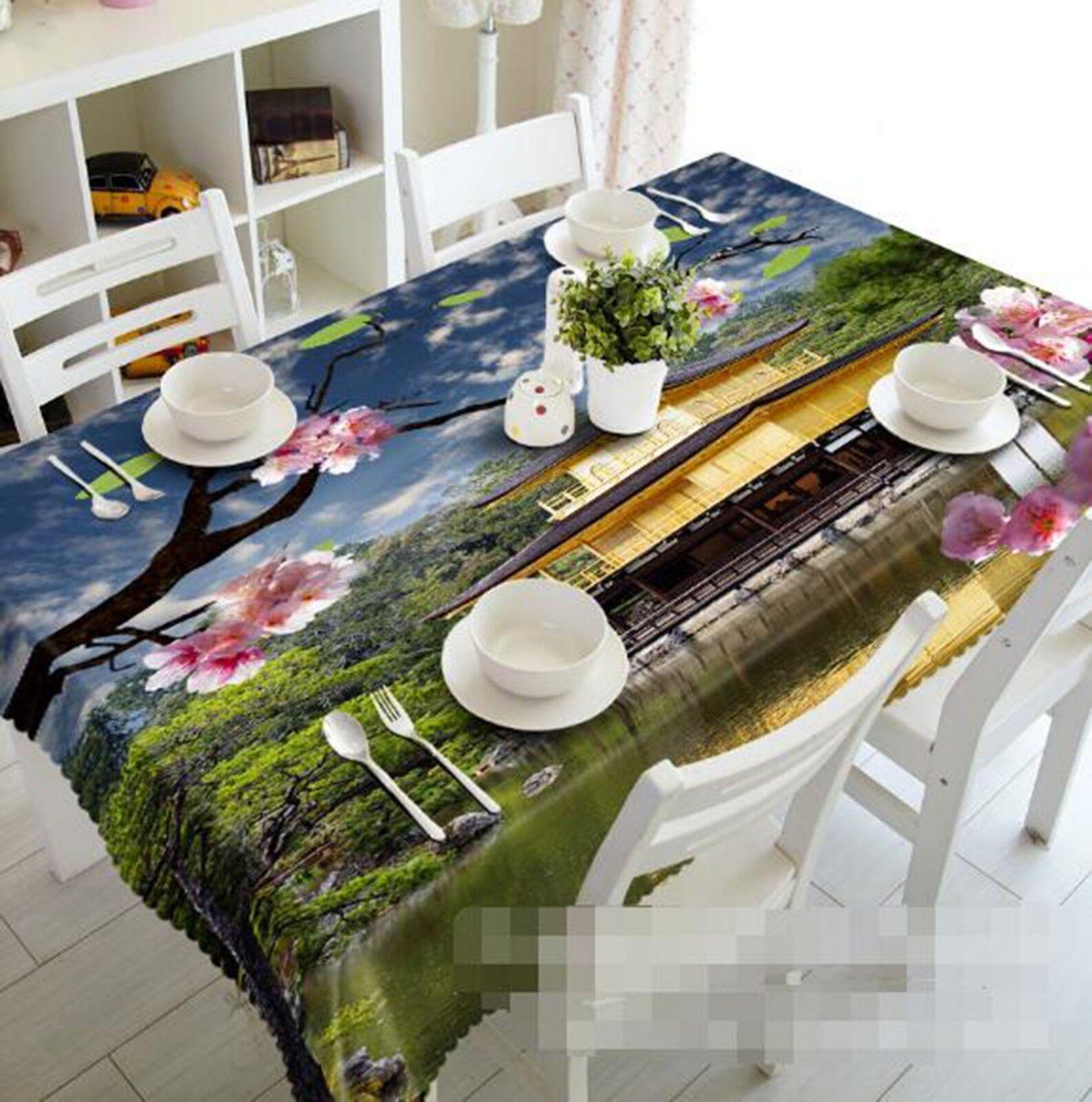 3D River House Sky 26 Tablecloth Table Cover Cloth Birthday Party Event AJ Lemon