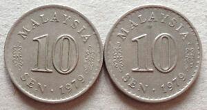 Parliament-Series-10-sen-coin-1979-2-pcs