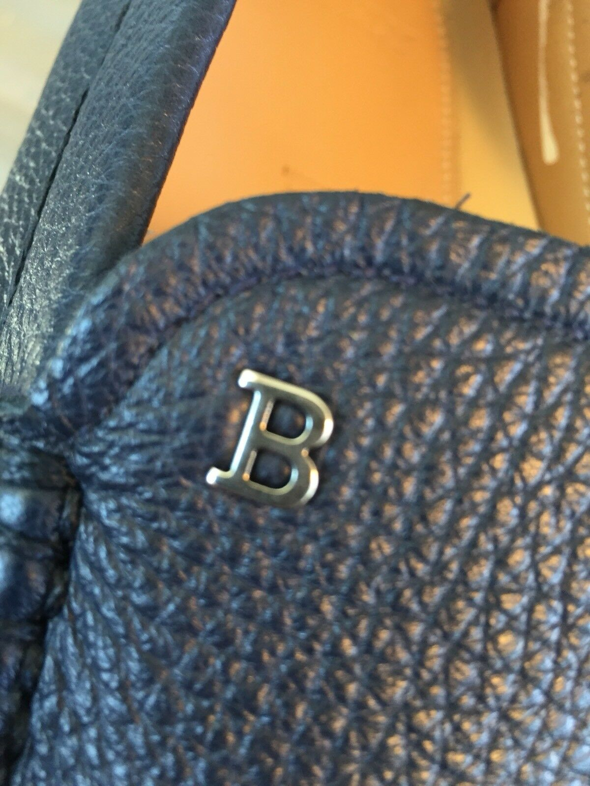 3f086c38348 ... 550  Bally Drouet Navy Blue Blue Blue Deer Leather Driver Size US 12  Made in ...