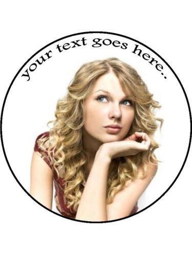 Taylor swift singer Personalised custom Edible Cake Topper Wafer Icing