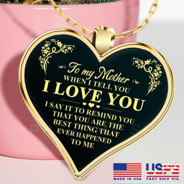Mother's Day Gift Necklace for Mom I Love You High Quality Necklace Chain