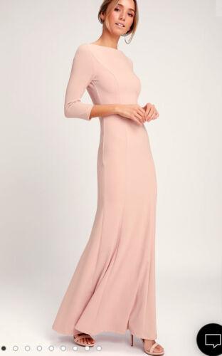 Pink Button Back Maxi Dress