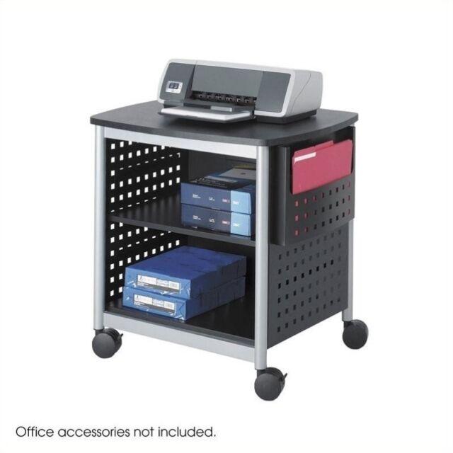 Black 26-1//2x20-1//2x26-1//2 SAF1856BL Printer Stand Desk Side