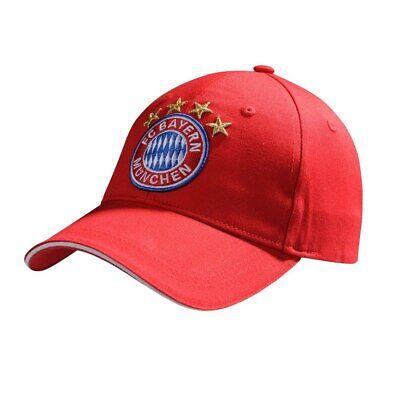 Appena Cappello Bayern Monaco Visiera Munchen Fc Originale Ufficiale Rosso Adulto 58 Cm