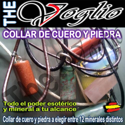 Collar con Colgante Cristal de Cuarzo y Minerales Quartz Necklace Vintage Etnica