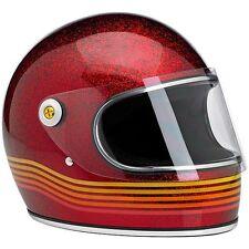 Casco Integrale Biltwell Gringo S Le Spectrum Rosso Glitterato Metal Flake Tg XL