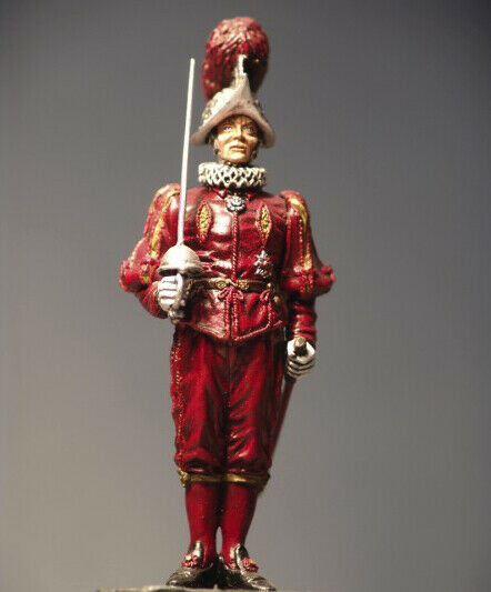 Commander of Pontifical Swiss Guard 54mm 1 32 Tin Painted Toy Soldier   Art