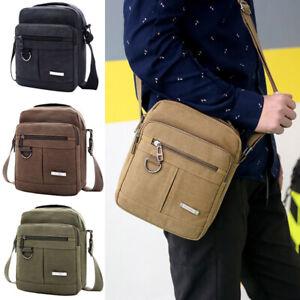 Men-039-s-Vintage-Canvas-Messenger-Shoulder-Bag-Travel-Satchel-Crossbody-School-Bag