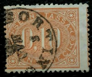1869 Italy Postage due Stamps J2 Fancy Used CV:$80