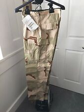Desert Storm Military Camo Combat Camouflage Trousers Pants Large Long NEW tags