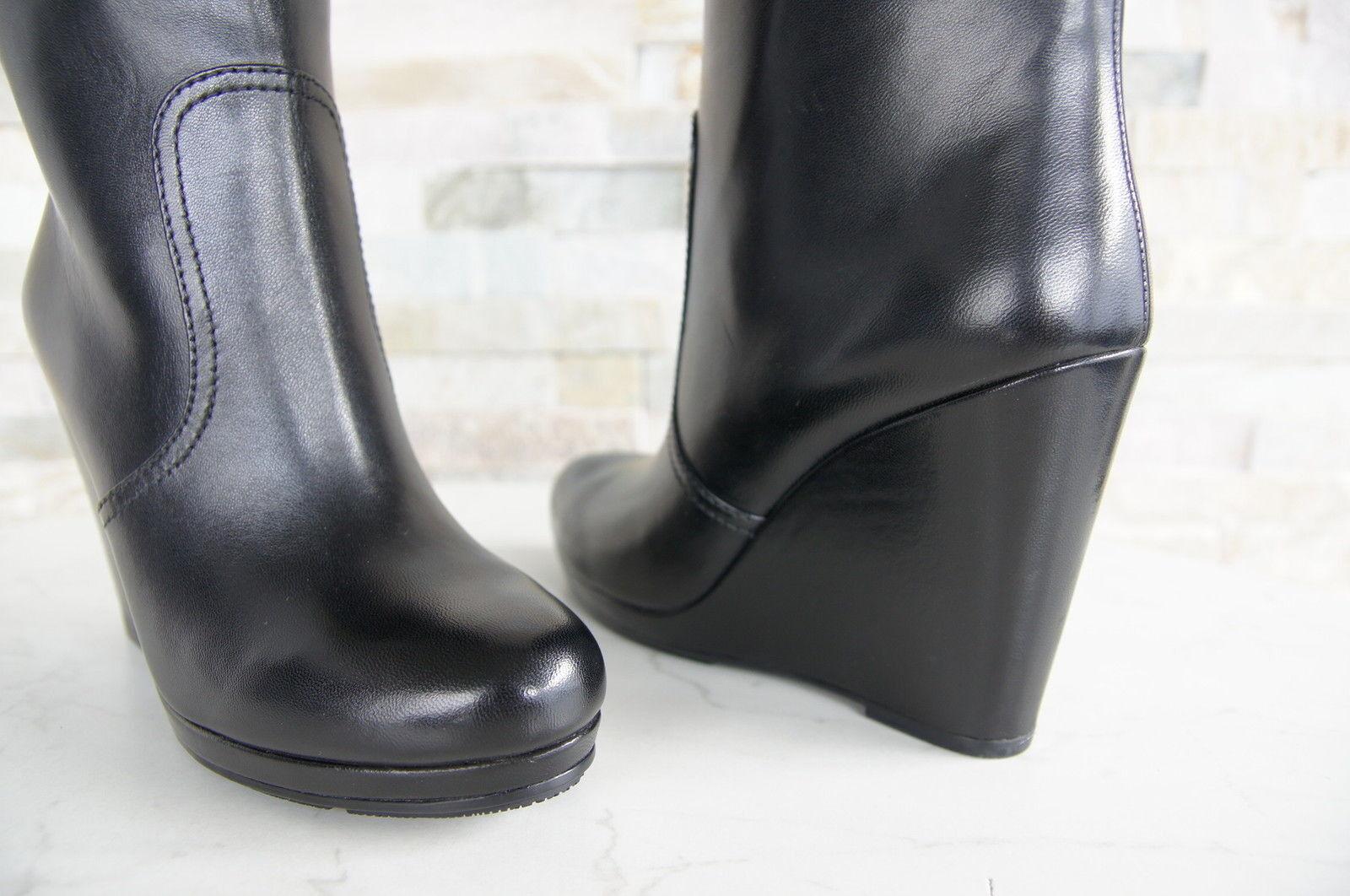 Prada Prada Prada Stiefeletten Gr 37,5 Damen Stiefelies Schuhe 3UZ005 schwarz NEU ehem 817cf8
