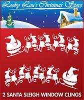 SANTA SLEIGH WINDOW CLING CHRISTMAS STICKERS XMAS