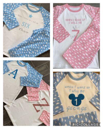 Birthday Pyjamas Personalised Girl /& Boy