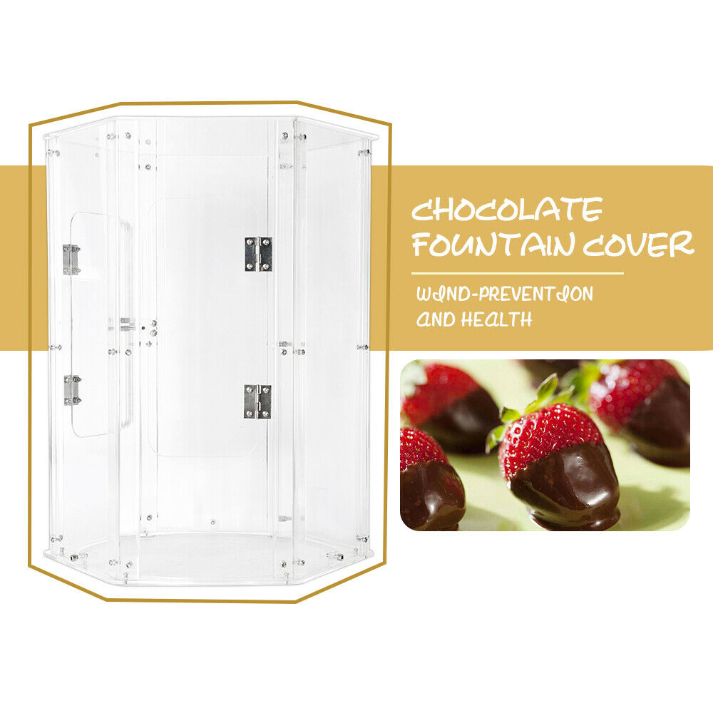 Chocolate Fountain Acrylic PVC Cover for 4 5 6 7 Tiers Wind-prevention Health